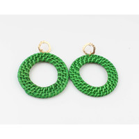 "Earring ""Gamba"" green"