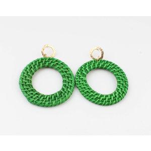 """Earring """"Gamba"""" green"""