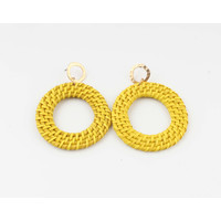 """Earring """"Gamba"""" yellow"""