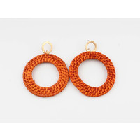 "Earring ""Gamba"" orange"
