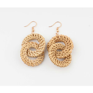 "Earring ""Savate"" beige"