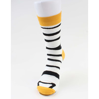 """Sokken """"Babis"""" zwart/geel"""