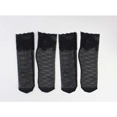 """Sokken """"Silke"""" zwart, per 2 paar"""