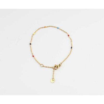 "Armband ""Mamfe"" multi/goud"