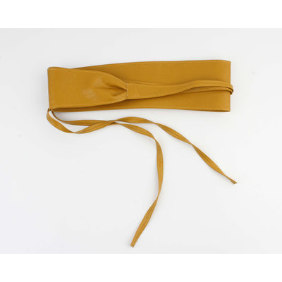 "Belt ""Ikom"" ocher yellow"