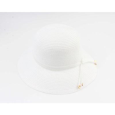 """Cloche hat """"Donga"""" white"""