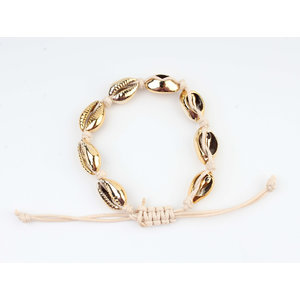 """Armband """"Abo"""" beige/goud"""