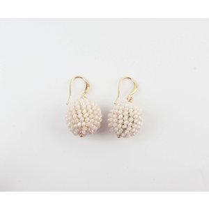 "Earring ""Ashira"" beige"