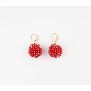 "Earring ""Ashira"" red"