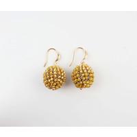 """Earring """"Ashira"""" ocher yellow"""