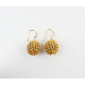 "Earring ""Ashira"" ocher yellow"