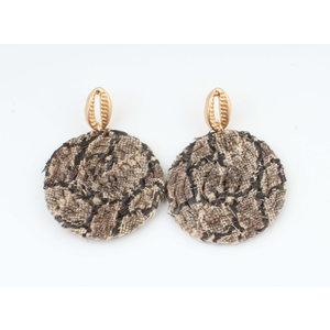 "Earring ""Hafun"" brown"