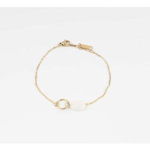"""Armband """"Bayla"""" wit/goud"""