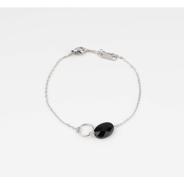 "Armband ""Bayla"" zwart/zilver"