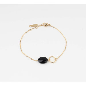 "Bracelet ""Bayla"" black / gold"