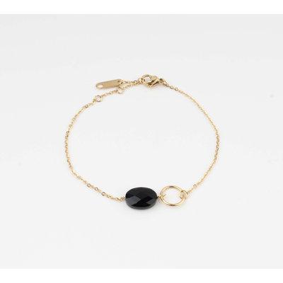 """Armband """"Bayla"""" zwart/goud"""