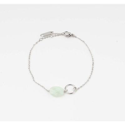 "Armband ""Bayla"" turquoise/zilver"