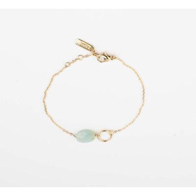 """Armband """"Bayla"""" turquoise/goud"""