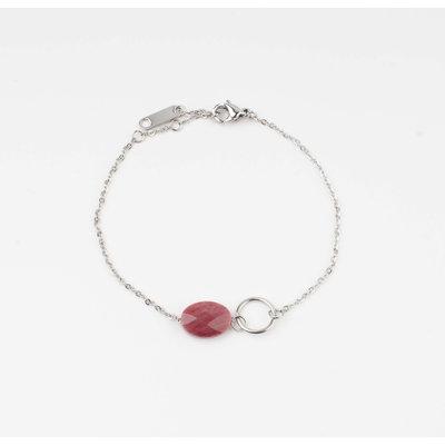 """Armband """"Bayla"""" rood/zilver"""