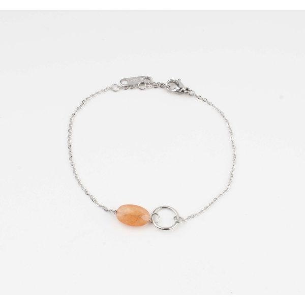 "Armband ""Bayla"" oranje/zilver"