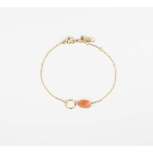"Bracelet ""Bayla"" orange / gold"