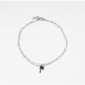 "Anklets ""Taleh"" white / silver"