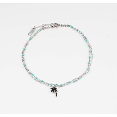 "Anklets ""Taleh"" turquoise / silver"