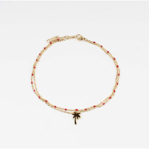 "Anklets ""Taleh"" red / gold"