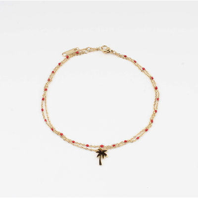 """Anklets """"Taleh"""" red / gold"""
