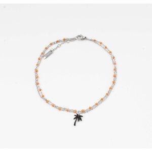 "Anklets ""Taleh"" orange / silver"