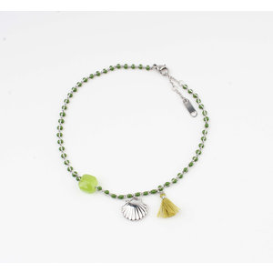 "Anklets ""Eyl"" green / silver"