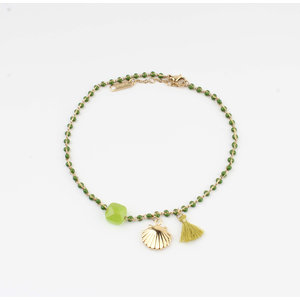 "Anklets ""Eyl"" green / gold"