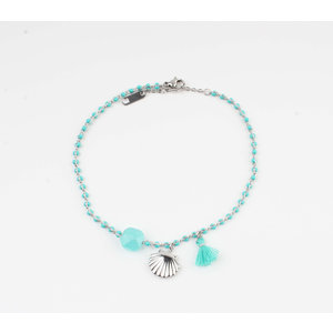 "Anklets ""Eyl"" turquoise / silver"
