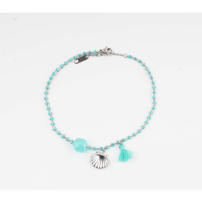 """Anklets """"Eyl"""" turquoise / silver"""