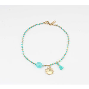 "Anklets ""Eyl"" turquoise / gold"