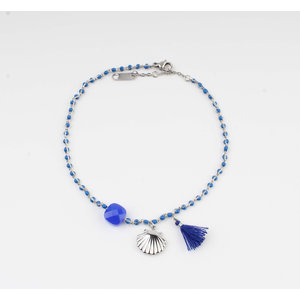 "Anklets ""Eyl"" blue / silver"