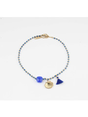"""Anklets """"Eyl"""" blue / gold"""