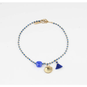 "Anklets ""Eyl"" blue / gold"