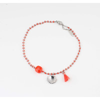 """Anklets """"Eyl"""" red / silver"""