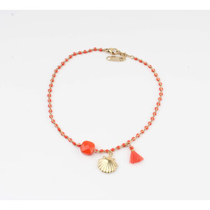 "Anklets ""Eyl"" red / gold"