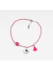 "Anklets ""Eyl"" pink / silver"