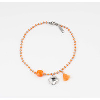 "Anklets ""Eyl"" orange / silver"