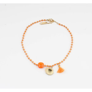 "Anklets ""Eyl"" orange / gold"