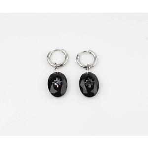 """Earring """"Domo"""" black / silver"""
