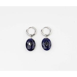 """Earring """"Domo"""" blue / silver"""