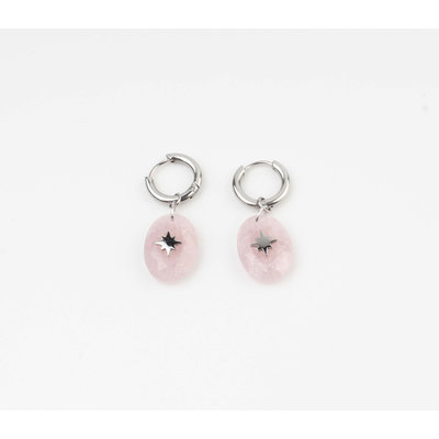"Ohrring ""Domo"" pink / silber"
