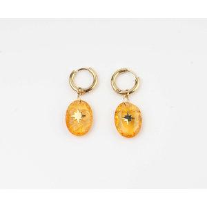 "Ohrring ""Domo"" orange / gold"