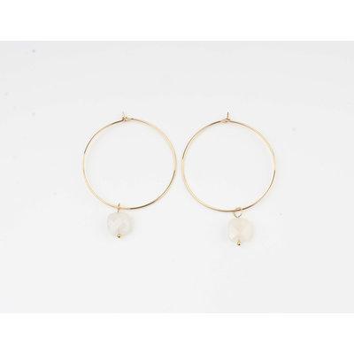"Earring ""Xero"" white / gold"