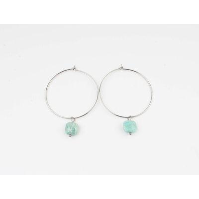 "Earring ""Xero"" turquoise / silver"