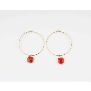 "Earring ""Xero"" red / gold"